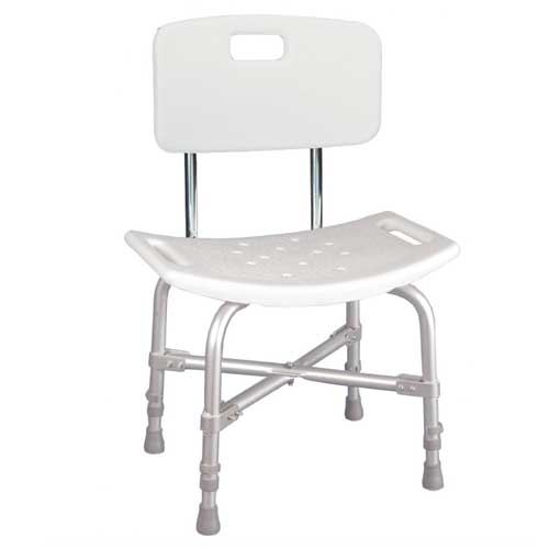 Deluxe Bariatric Shower Chair With Back 500 Lbs Weight