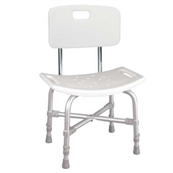 Deluxe Bariatric Shower Chair with Back Heavy Duty