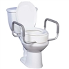 Drive Medical Premium Raised Toilet Seat Elongated Bowl