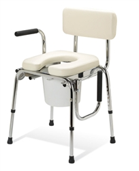 Guardian Padded Drop Arm Commode Chair - 350-lbs. Weight Capacity