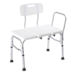 Carex Classic Transfer Bench White Bench with Aluminum Frame