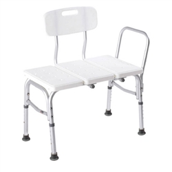 Carex Classic Transfer Bench - 300-lbs Weight Capacity