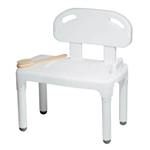 Carex Universal Transfer Bench White Platic