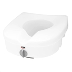 "Carex E-Z Lock 5"" Raised Toilet Seat White plastic"