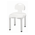 Carex Universal Shower Chair with Back White Plastic