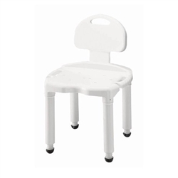 Carex Universal Shower Chair with Back - 400-lbs Weight Capacity