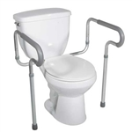 Toilet Safety Frame with Padded Arms Aluminum framed