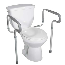Drive Medical Toilet Safety Frame with Padded Arms