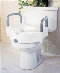 "Guardian_Locking_5""_Raised_Toilet_Seat_with_Arms_250-lbs_Weight_Capacity"