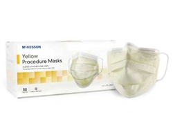 McKesson_Yellow_Pleated_Disposable_Procedure_Mask