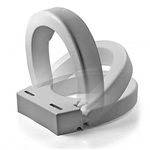 Hinged Elevated Toilet Seat Riser