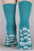 Medi-Pak Above Ankle Slipper Socks Teal One Size Fits Most