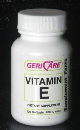 Geri Care Vitamin E 200 IU Softgels Bottle of 100