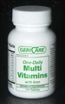 Geri Care One-Daily Multi-Vitamin with Iron - Bottle of 100