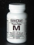 Thera-Tabs M High Potency Multivitamin and Minerals Bottle of 100