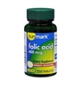Sunmark Folic Acid 400 mg Tablets Bottle of 250