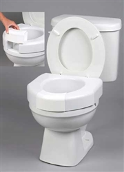 Basic Open Front Elevated Toilet Seat with Closed Front Option