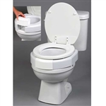 Secure-Bolt Elevated Toilet Seat for Standard Toilets