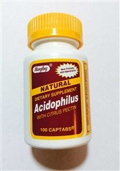 Rugby Acidophilus Captabs Bottle of 100
