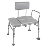 Drive Medical Padded Transfer Bench with 400 lbs Weight Capacity