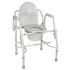 Deluxe Steel Drop Arm Commode