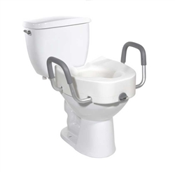 Drive Medical Premium Raised Locking Toilet Seat for Elongated Bowls