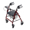 Lumex Walkabout 4 Wheel Hemi Rollator with 6 Inch Casters by Graham Field