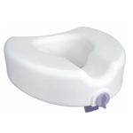 Premium Plastic Raised Toilet Seat with Lock for Elongated Bowls