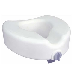 Raised Toilet Seat with Lock for Elongated Toilets
