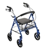 Durable Steel Folding Rollator with 7.5 inch casters by Drive Medical