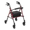 Adjustable Height Aluminum Rollator with 6 inch Casters by Drive Medical