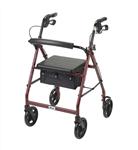 Lightweight Aluminum Rollator with 7.5 inch Casters by Drive Medical
