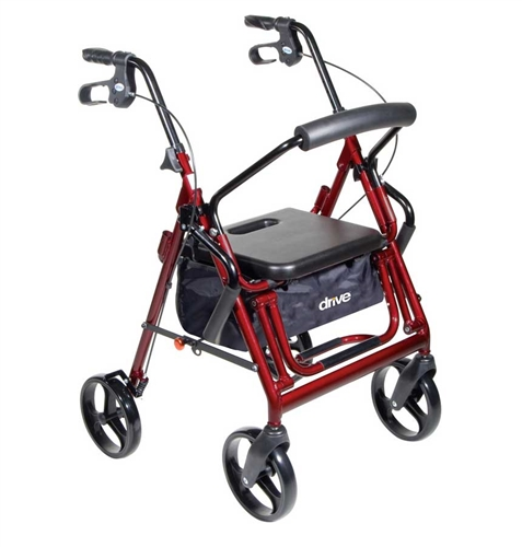 Duet Rollator Transport Chair Combo With 8 Inch Casters By