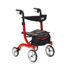 Nitro Aluminum Rollator with 10 Inch Casters by Drive Medical