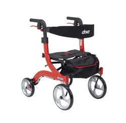 Nitro Aluminum Rollator Hemi Height with 10 Inch Casters by Drive Medical