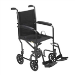 Steel Transport Chair Wheelchair by McKesson
