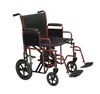 Bariatric HD Steel Transport Chair Wheelchair by Drive Medical