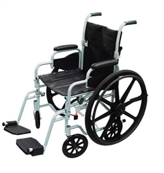 Poly-Fly Transport Chair and Wheelchair Combo by Drive Medical