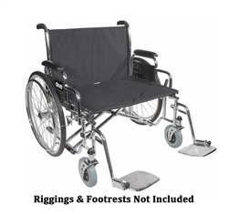 Sentra EC Heavy Duty Wide Bariatric Wheelchair by Drive Medical