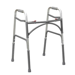 Bariatric Aluminum Folding Walker Two Button