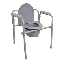 Fixed Arm Commode Chair McKesson