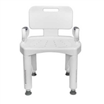 McKesson Premium Series Plastic Shower Chair with Back and Arms