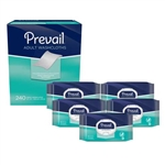Prevail Adult Washcloths 240 Count Case
