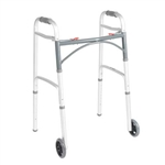 McKesson Folding Wheeled Walker with 5  Inch Wheels