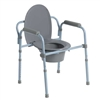Folding Steel Commode by McKesson