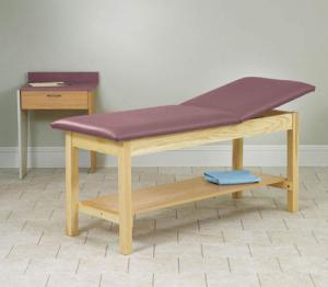 H-Brace Treatment Table Rising Top w Shelf 30x72x31