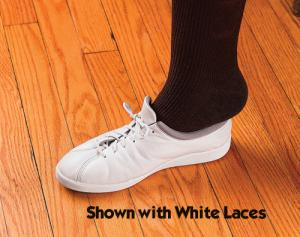 Elastic Shoe Laces-White Pk 3
