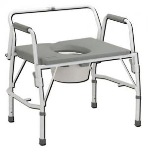 Bariatric Drop-Arm Commode Deluxe