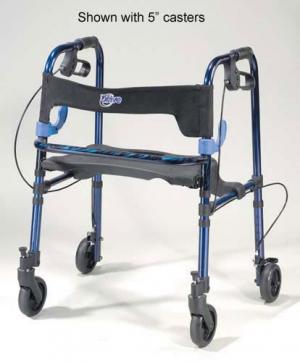 Clever-Lite Folding Rollator Adult w 8  Casters