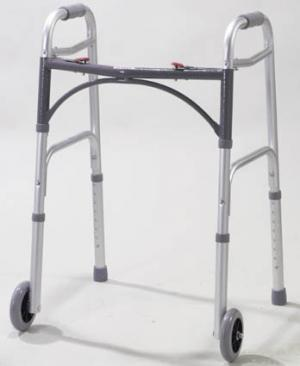 Easy-Release 2 Button Walker Youth w 5  Wheels
